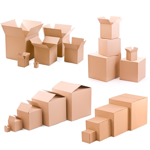 Different size cardboard boxes